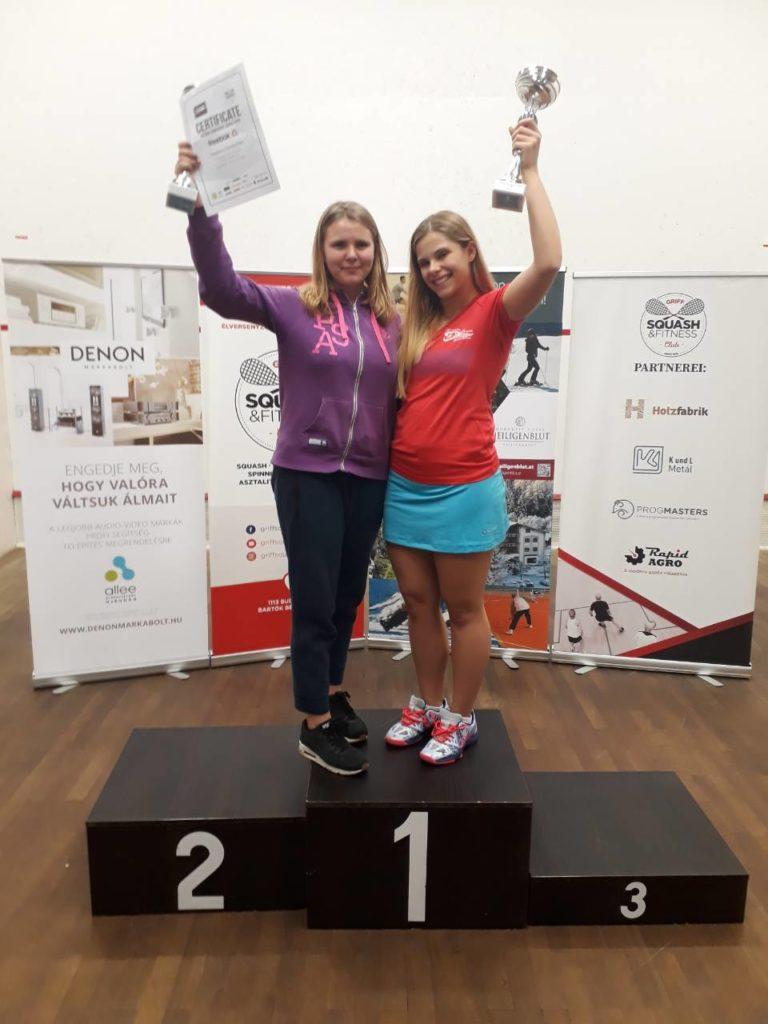 Украинские сквошистки Жуковец и Твердохлеб завоевали медали на турнире в Венгрии!