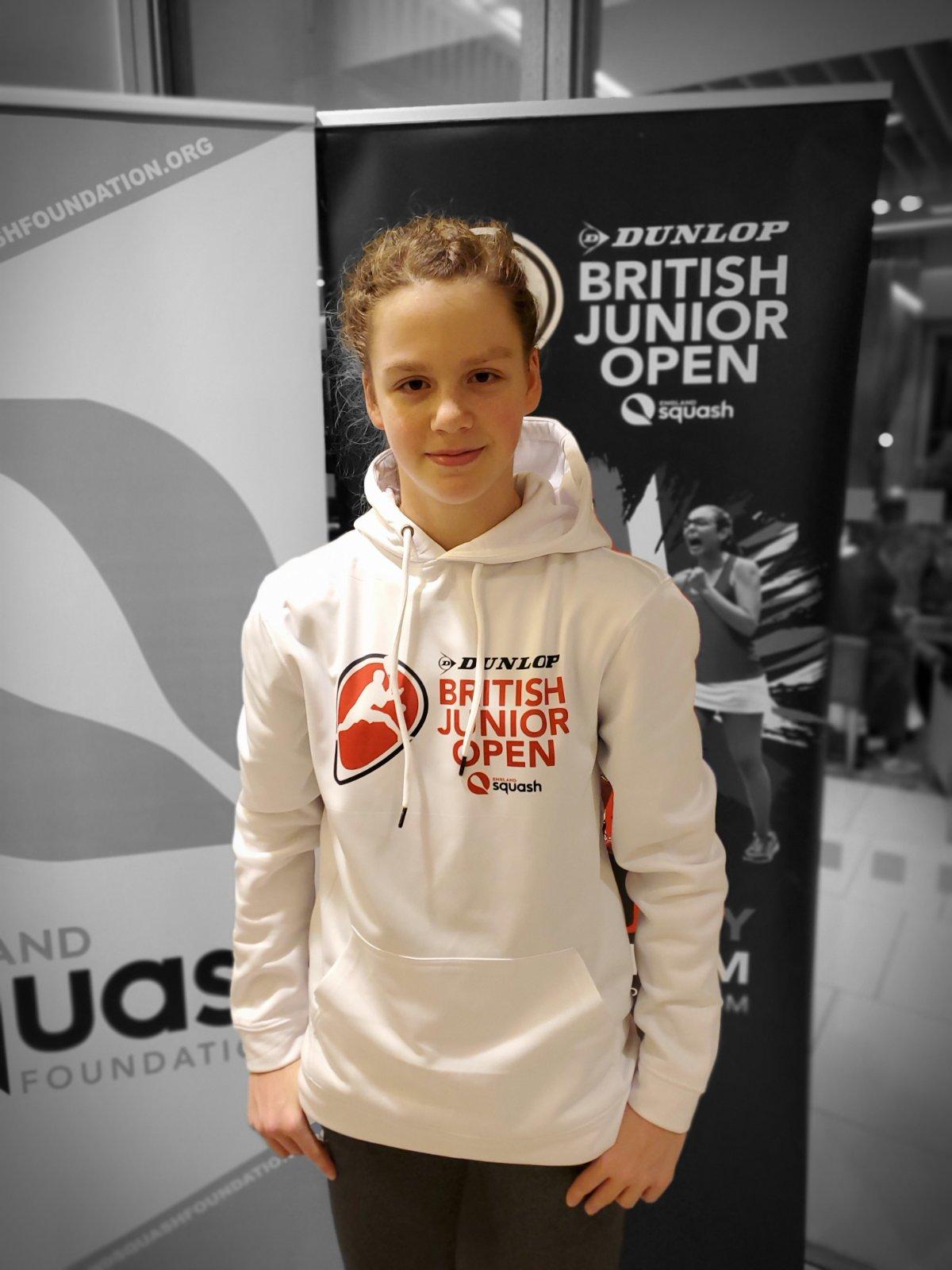 Милена Величко на чемпионате по сквошу British Junior Open Squash!
