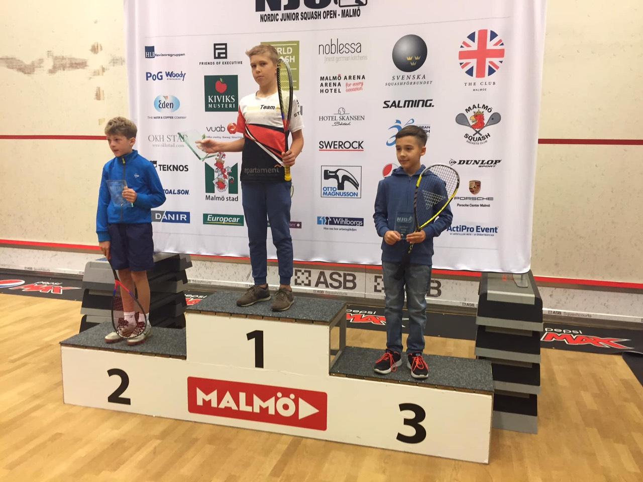 Бронза на Nordic Junior Squash Open 2019: первая медаль Заиченко на международном турнире!